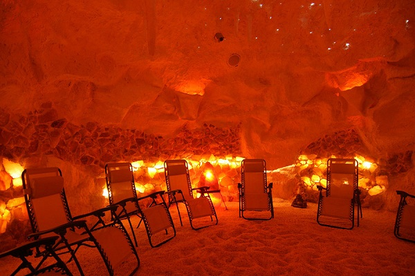 Spa treatments in the salt cave