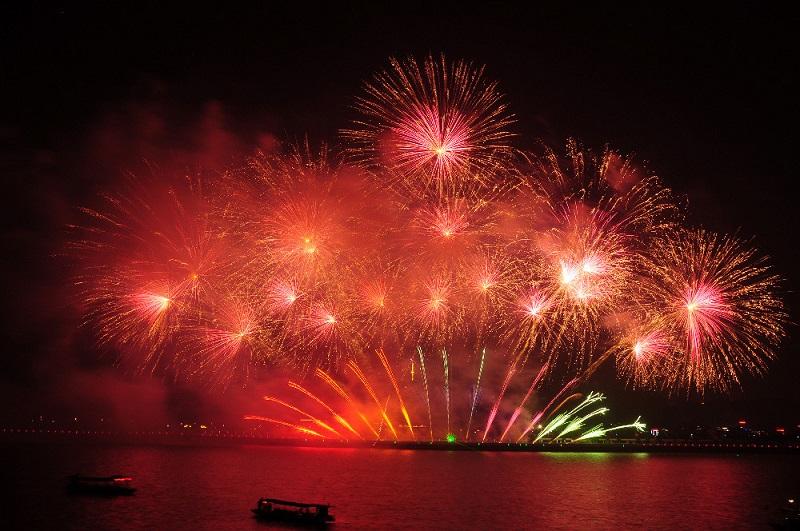 Photograph fireworks
