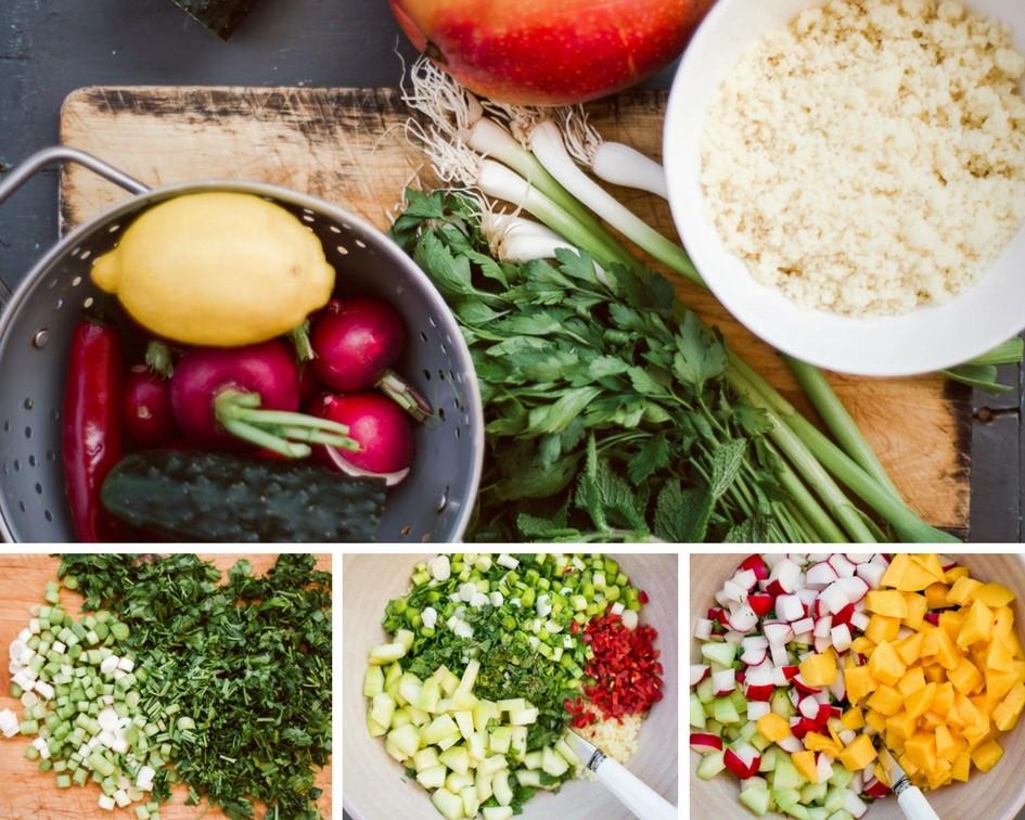 Light cous cous salad